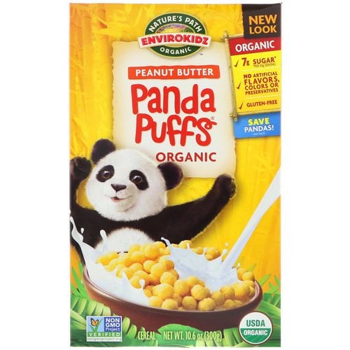 Nature's Path, EnviroKidz, Organic Peanut Butter Panda Puffs, 10.6 oz (300 g) Review