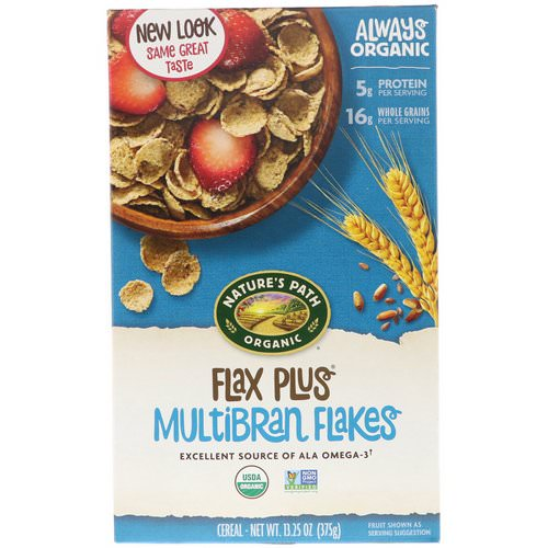 Nature's Path, Organic, Flax Plus Multibran Flakes Cereal, 13.25 oz (375 g) Review
