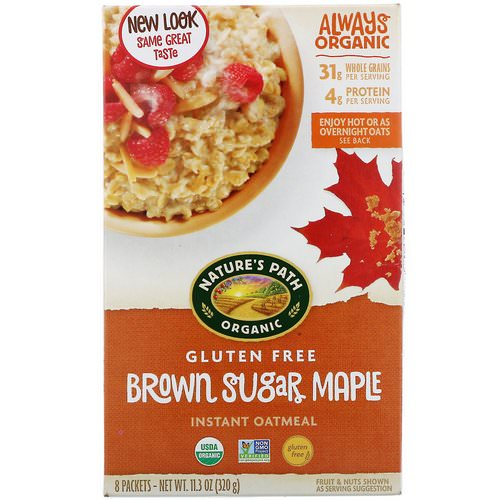 Nature's Path, Organic Instant Oatmeal, Brown Sugar Maple, 8 Packets, 11.3 oz (320 g) Review