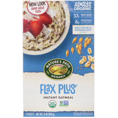 Nature's Path, Organic Instant Oatmeal, Flax Plus, 8 Packets, 14 oz (400 g) Review