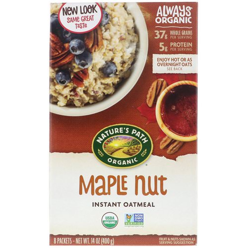 Nature's Path, Organic Instant Oatmeal, Maple Nut, 8 Packets, 14 oz (400 g) Review