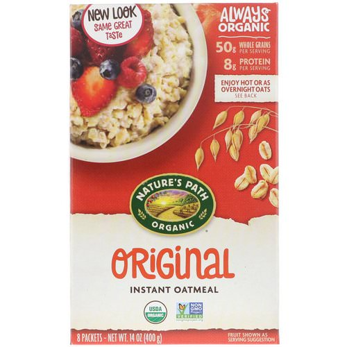 Nature's Path, Organic Instant Oatmeal, Original, 8 Packets, 14 oz (400 g) Review