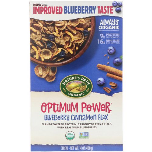 Nature's Path, Organic Optimum Power Cereal, Blueberry Cinnamon Flax, 14 oz (400 g) Review