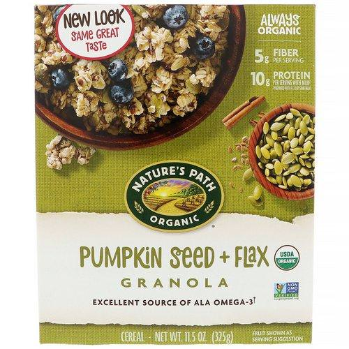 Nature's Path, Organic Pumpkin Seed + Flax Granola Cereal, 11.5 oz (325 g) Review