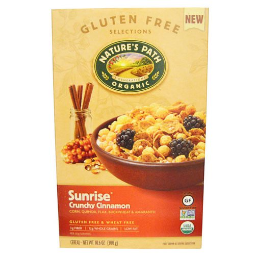 Nature's Path, Organic Sunrise Crunchy Cinnamon Cereal, 10.6 oz (300 g) Review