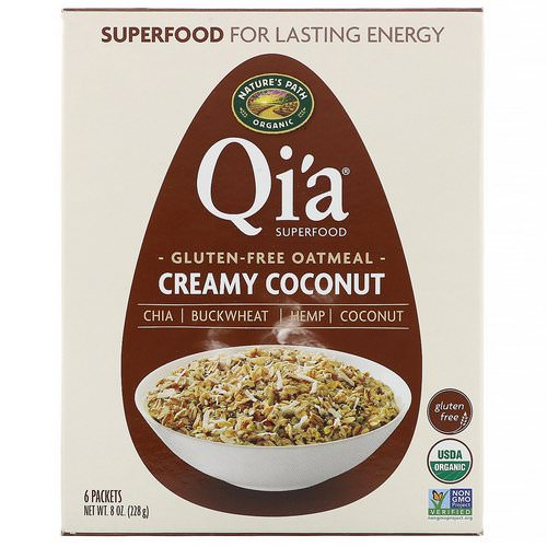 Nature's Path, Qi'a Superfood Oatmeal, Creamy Coconut, 6 Packets, 8 oz (228 g) Review