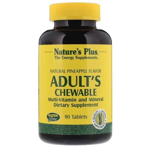 Nature's Plus, Adult's Chewable Multi-Vitamin and Mineral, Natural Pineapple Flavor, 90 Tablets Review