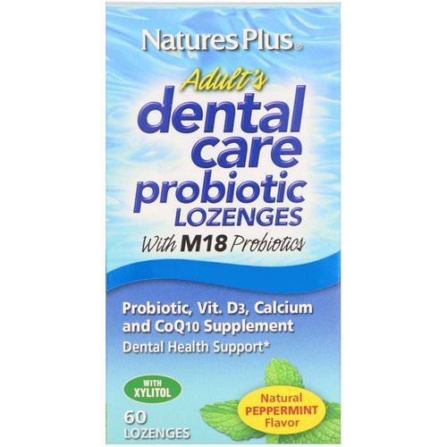 Nature's Plus, Adult's Dental Care Probiotic, Natural Peppermint Flavor, 60 Lozenges Review