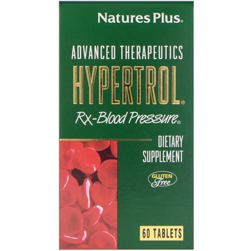 Nature's Plus, Advanced Therapeutics, Hypertrol, RX Blood Pressure, 60 Tablets Review