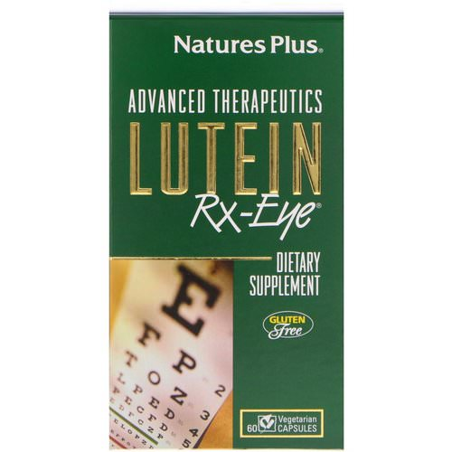 Nature's Plus, Advanced Therapeutics, Lutein RX-Eye, 60 Vegetarian Capsules Review