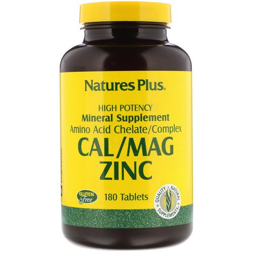 Nature's Plus, Cal/Mag Zinc, 180 Tablets Review
