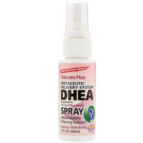 Nature's Plus, DHEA Spray, Instaceutic Delivery System, Natural Wild Berry, 2 fl oz (60 ml) Review