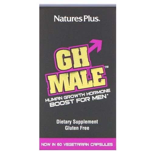 Nature's Plus, GH Male, Human Growth Hormone for Men, 60 Vegetarian Capsules Review