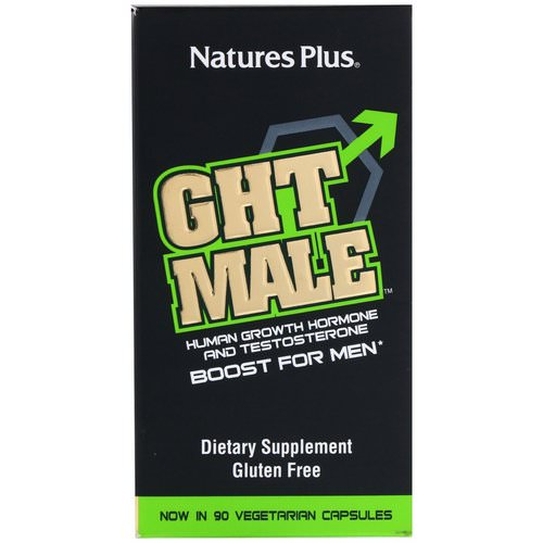 Nature's Plus, GHT Male, Human Growth Hormone And Testosterone Boost For Men, 90 Vegetarian Capsules Review