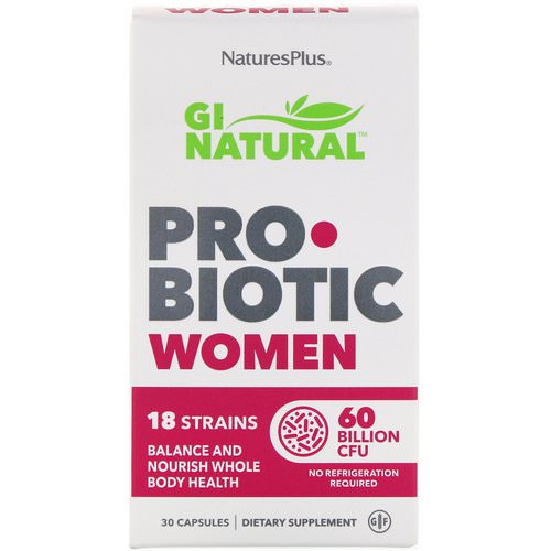 Nature's Plus, GI Natural Probiotic Women, 60 Billion CFU, 30 Capsules Review