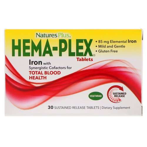 Nature's Plus, Hema-Plex, 30 Sustained Release Tablets Review