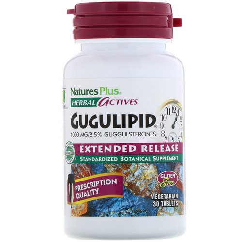 Nature's Plus, Herbal Actives, Gugulipid, Extended Release, 1,000 mg, 30 Vegetarian Tablets Review
