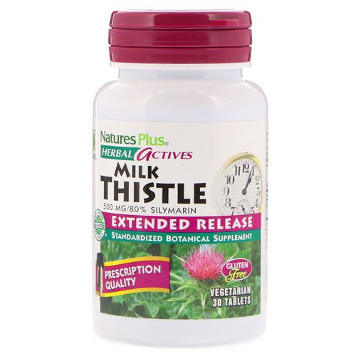 Nature's Plus, Herbal Actives, Milk Thistle, Extended Release, 500 mg, 30 Tablets Review