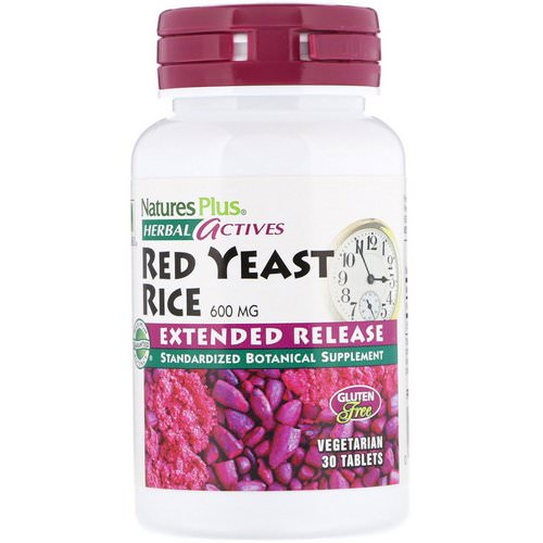 Nature's Plus, Herbal Actives, Red Yeast Rice, 600 mg, 30 Tablets Review