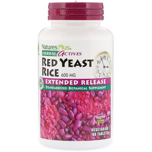 Nature's Plus, Herbal Actives, Red Yeast Rice, 600 mg, 60 Tablets Review