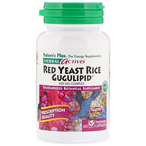 Nature's Plus, Herbal Actives, Red Yeast Rice Gugulipid, 450 mg, 60 Vegetarian Capsules Review