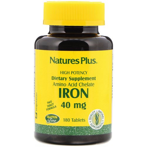 Nature's Plus, Iron, 40 mg, 180 Tablets Review