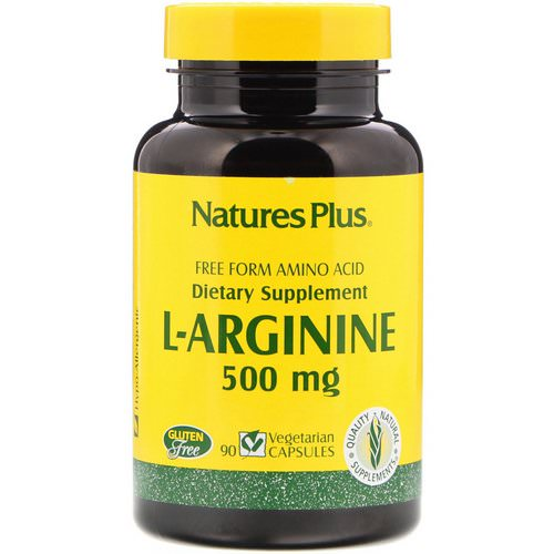 Nature's Plus, L-Arginine, 500 mg, 90 Vegetarian Capsules Review