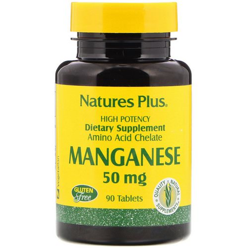 Nature's Plus, Manganese, 50 mg, 90 Tablets Review