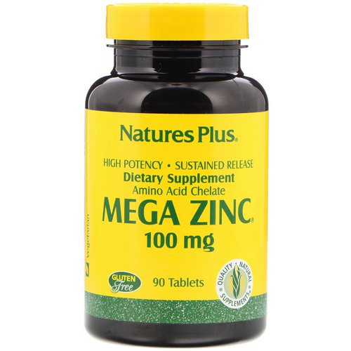 Nature's Plus, Mega Zinc, 100 mg, 90 Tablets Review