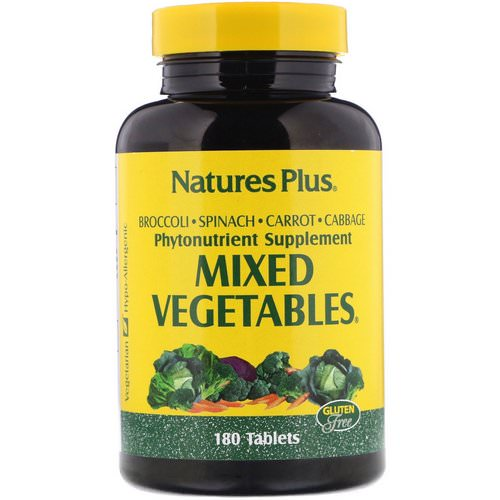 Nature's Plus, Mixed Vegetables, 180 Tablets Review