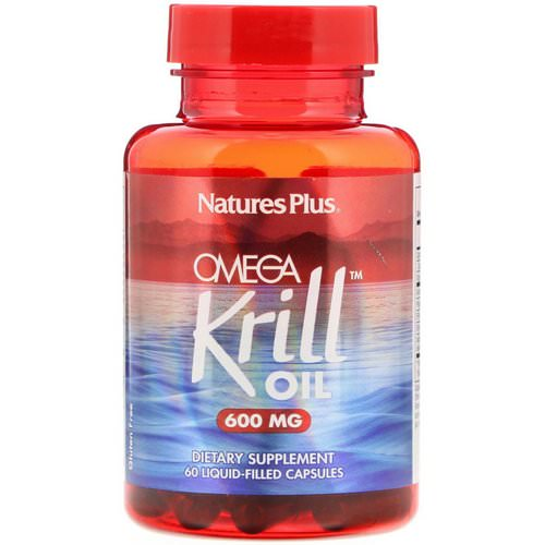 Nature's Plus, Omega Krill Oil, 600 mg, 60 Liquid-Filled Capsules Review