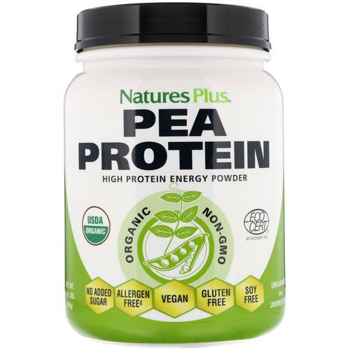 Nature's Plus, Organic Pea Protein Powder, 1.10 lbs (500 g) Review