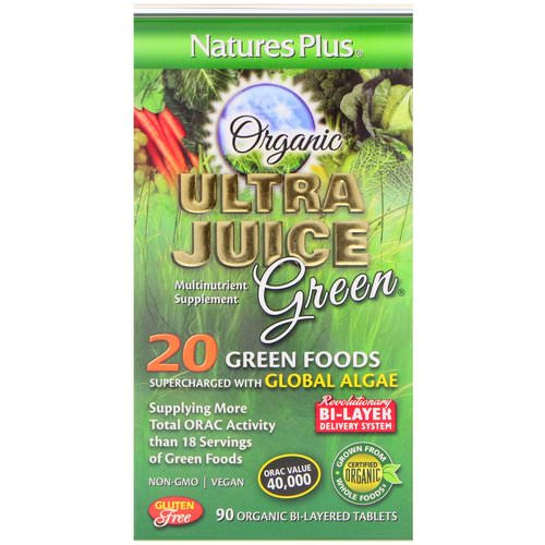 Nature's Plus, Organic Ultra Juice Green, 90 Organic Bi-Layered Tablets Review