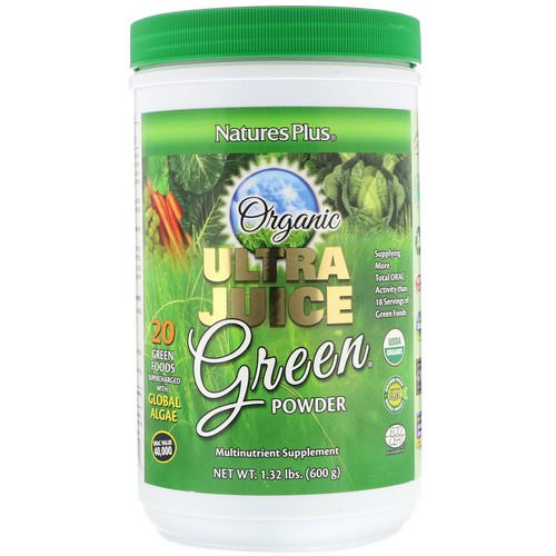 Nature's Plus, Organic Ultra Juice Green Powder, 1.32 lbs (600 g) Review
