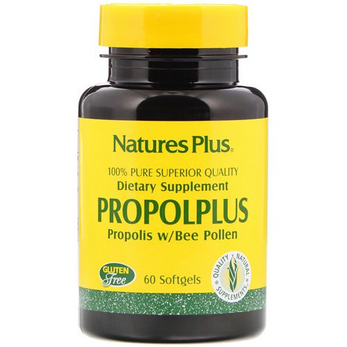 Nature's Plus, Propolplus, Propolis w/Bee Pollen, 60 Softgels Review