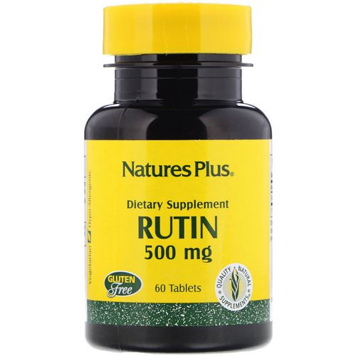 Nature's Plus, Rutin, 500 mg, 60 Tablets Review