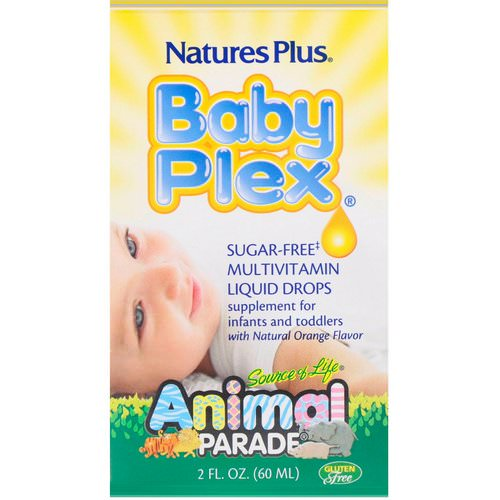 Nature's Plus, Source of Life, Animal Parade, Baby Plex, Sugar Free Multivitamin Liquid Drops, Natural Orange Flavor, 2 fl oz (60 ml) Review