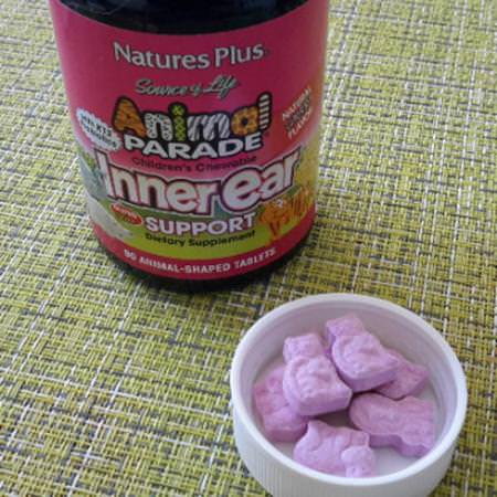 Nature's Plus, Source of Life, Animal Parade, Children's Chewable Inner Ear Support, Natural Cherry Flavor, 90 Animals-Shaped Tablets Review