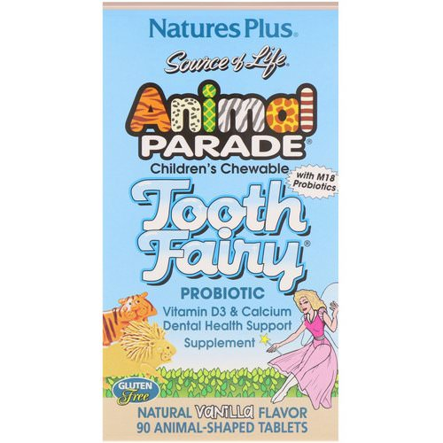 Nature's Plus, Source of Life, Animal Parade, Tooth Fairy Probiotic, Children's Chewable, Natural Vanilla Flavor, 90 Animal-Shaped Tablets Review