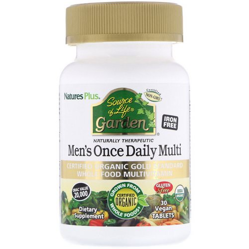 Nature's Plus, Source of Life Garden, Men's Once Daily Multi, 30 Vegan Tablets Review