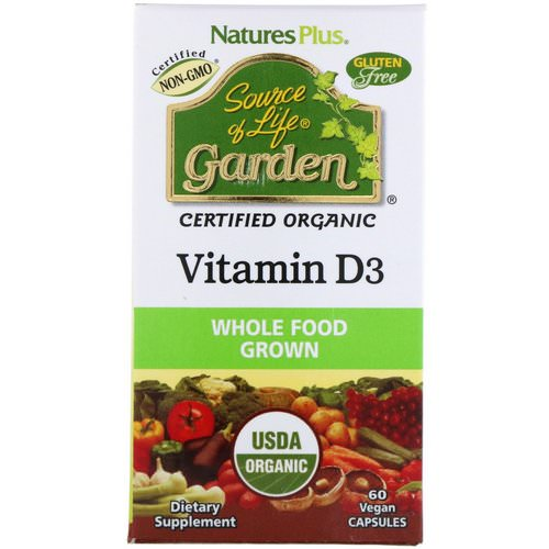 Nature's Plus, Source of Life, Garden, Vitamin D3, 60 Veggie Caps Review