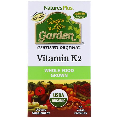 Nature's Plus, Source of Life, Garden, Vitamin K2, 60 Vegan Caps Review