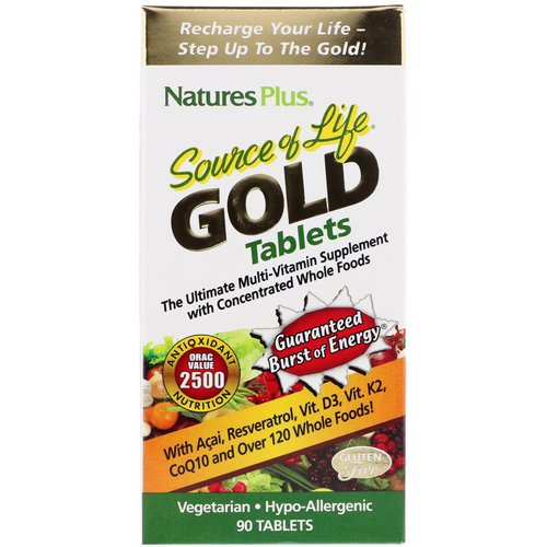 Nature's Plus, Source of Life Gold, The Ultimate Multi-Vitamin Supplement, 90 Tablets Review