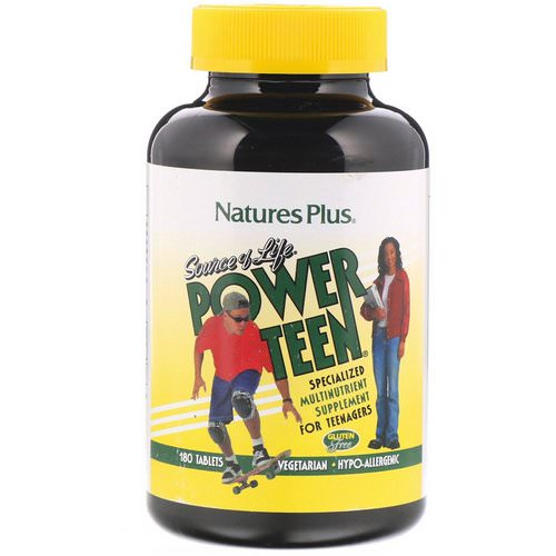 Nature's Plus, Source of Life, Power Teen, 180 Tablets Review
