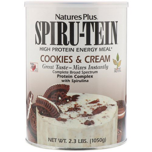 Nature's Plus, Spiru-Tein, High Protein Energy Meal, Cookies & Cream, 2.3 lbs (1050 g) Review