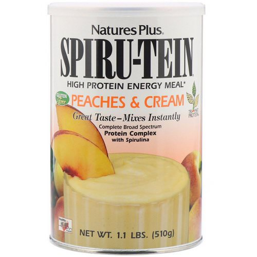 Nature's Plus, Spiru-Tein, High Protein Energy Meal, Peaches & Cream, 1.1 lbs (510 g) Review
