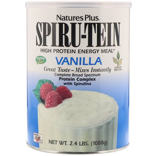 Nature's Plus, Spiru-Tein High Protein Energy Meal, Vanilla, 2.4 lbs (1088 g) Review
