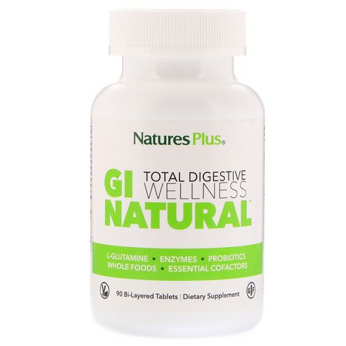 Nature's Plus, Total Digestive Wellness, GI Natural, 90 Bi-Layered Tablets Review