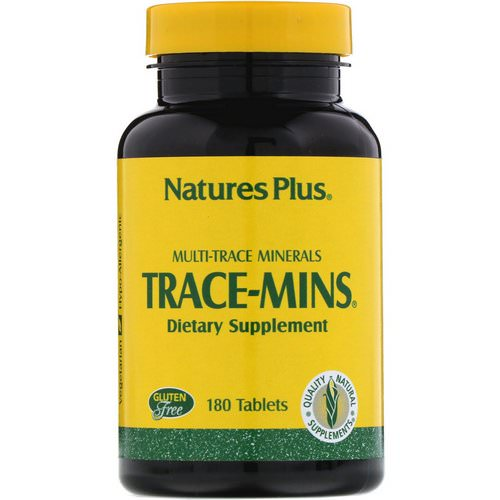 Nature's Plus, Trace-Mins, Multi-Trace Minerals, 180 Tablets Review