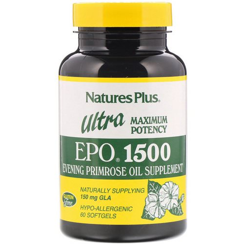 Nature's Plus, Ultra EPO 1500, Maximum Potency, 60 Softgels Review